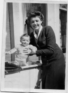 With my mother in Southsea 1944