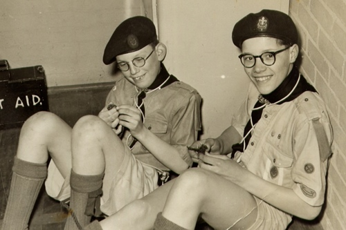 1958 Scouting at school
