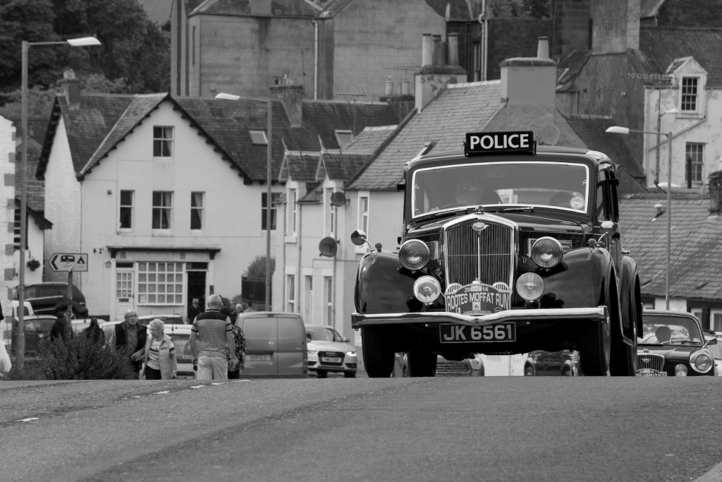 War time Rover Police Car